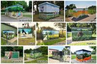 Gestaltete Ortsnetzstationen von Schleswig-Holstein Netz (Teil der HanseWerk-Gruppe)