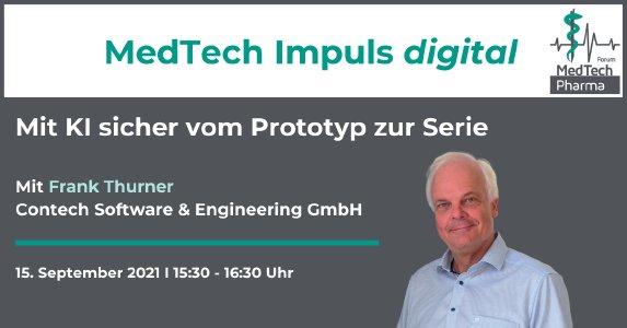 KI in der Medizintechnik - MedTech Impuls digital am 15.9.2021