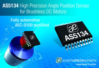 austriamicrosystems presents AS5134, a high precision angle position sensor offering excellent performance in automotive applications