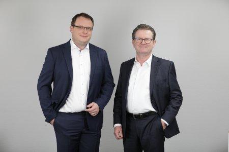 Michael Hillenbrand (links) ist nun gemeinsam mit Andreas Laubner (rechts) Geschäftsführer der Andreas Laubner GmbH.