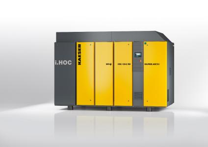 The dry-running, FSG series screw compressor with the new, integrated i.HOC rotary dryer provides a reliable, stable supply of compressed air and achieves pressure dew points of up to minus 30° C, while saving both energy and space
