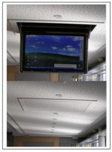 Flatlift Slimline Ceiling TV Lift for XXL TV`s works via remote ...