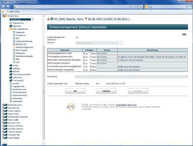 Funktion Entlassmanagement im KIS CLINIXX. Diese ermöglicht eine optimale Vorbereitung der Entlassung und deren genaue  Dokumentation