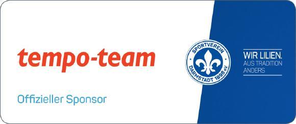 Tempo-Team Personaldienstleistungen wird neuer Sponsor beim SV Darmstadt 98