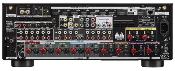 Denon AVR-X4100W - Rückansicht