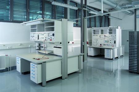 erfi - Innovative und hoch komplexe technische Labor- und Arbeitsplatzsysteme. Das Aluminiummöbelsystem varantec, das Arbeitsplatzsystem ohne Kompromisse.
