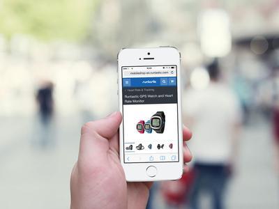 Produktansicht Web App runtastic
