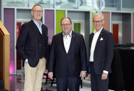 Frank Dreeke, Prof. Thomas Wimmer und Dr. Stefan Wolff / Fotocredit: BVL