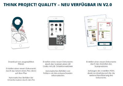 Bauprozesse werden mobil mit think project! Quality 2.0