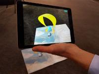 Augmented Reality Projektion in 3D Kinderbuch