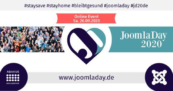 Konferenz JoomlaDay™ 2020 in Deutschland mit der ABAKUS Internet Marketing GmbH als Medien-Sponsor