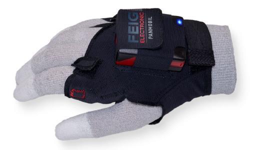 HyWEAR compact kann über einem Arbeitshandschuh getragen werden. Finger, Hand und Arm bleiben frei beweglich!