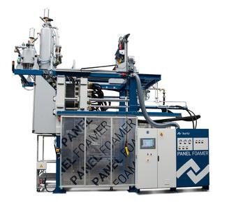With the Kurtz PANEL FOAMER insulation panels are cost efficiently produced on a shape moulding machine