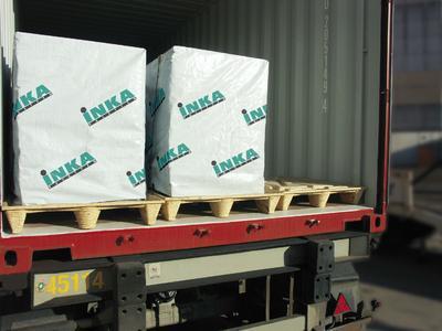 Inka-Paletten sind in allen gängigen Größen und auch in speziellen Containerformaten lieferbar. Alle Inka-Paletten sind von den strengen Vorschriften der ISPM15 ausgenommen und gehen problemlos durch den Zoll.