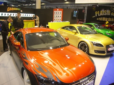 Brilliant colors sizzle on hot cars