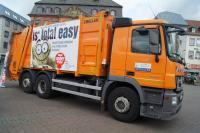 Müllwagen Marktplatz Hanau
