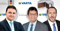 Freuen sich über die Verleihung des deutschen Innovationspreises: Herbert Schein, Vorstandsvorsitzender VARTA AG, Rainer Hald, CTO VARTA Microbattery GmbH/VARTA Storage GmbH und Andreas Fritz, Head of Global Marketing, VARTA Microbattery GmbH (v.l.n.r.) / Foto: VARTA AG