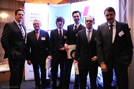 Professor Volker Stich, Professor Walter Eversheim, Jan-Philip Scheifers, André Heßler, Hans Heikenfeld und  Andreas Meisel