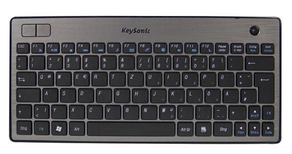 Graceful multimedia keyboard for trackball artists