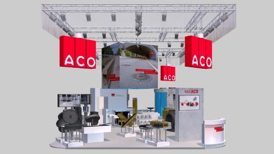 ACO Messestand auf der InfraTech 2020