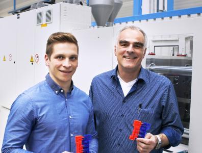 Patrick Wiest (l.) und Professort Steffen Ritter, Hochschule Reutlingen (Foto: wortundform)