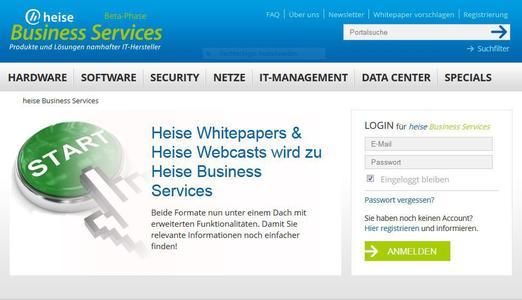Neues Business-Portal auf heise online