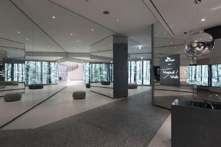 """Artfully arranged mirrors enlarge the Forest Zone as a natural experience and """"magically"""" suggest more paths in their reflection / copyright: D'art Design Seoul Ltd."""