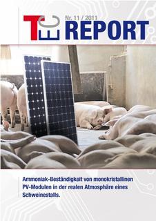 Der aktuelle TEC-Report des TEC-Instituts für technische Innovationen zum Thema Ammoniak-Beständigkeit von PV-Modulen. Bild: TEC-Institut