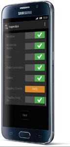 Über die Abfahrtskontrolle kann der Fahrer eine übersichtliche Checkliste vor Fahrtbeginn durcharbeiten. Bild: Blue Tree Systems GmbH