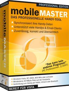 Mobile Master bleibt immer auf dem neuesten Stand, der Datenabgleich zwischen PC und Handy bleibt gesichert.