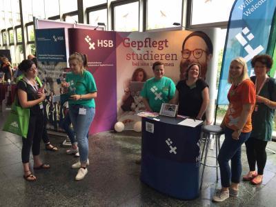 Der Stand des Studiengangs Angewandte Therapiewissenschaften auf dem Logopädie-Kongress in Mainz