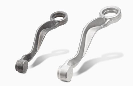 Before and after: Steering knuckles for passenger cars