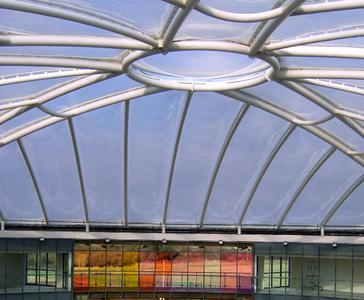 Lightweigth-roof made of ETFE-film