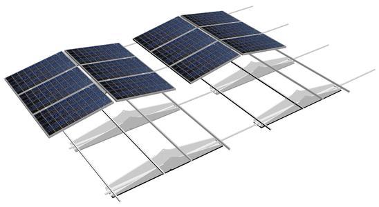 Das neue TRIC F box Montagesystem eignet sich für alle gängigen Industrieflachdächer und nutzt die Dachfläche optimal aus