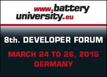 8th Developer Forum Battery Technologies of batteryuniversity.eu provides a three-day insight into the battery world of the future