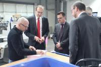Der Vorstand der Sparkasse Donauwörth zu Besuch bei Schätzl print emotion