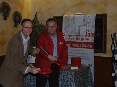 (links) Steffen Schoch, Geschäftsführer Wirtschaftsregion Heilbronn-Franken GmbH (WHF) und Rainer Gauger Gauger Marketing