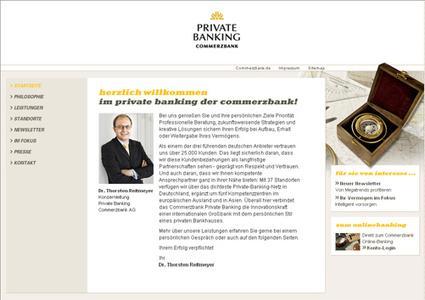 Die neue Private Banking Website der Commerzbank
