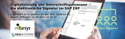 Digitalisierung von Unterschriftsprozessen – die elektronische Signatur im SAP ERP