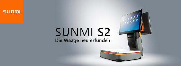 Sunmi S2 - All-in-One Touchkasse mit integrierter Waage