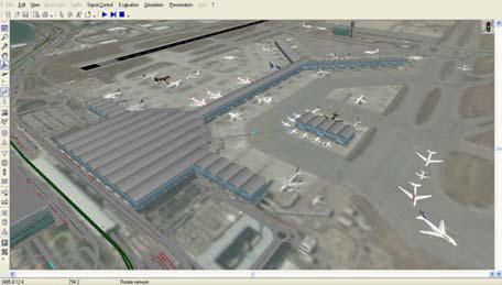 VISSIM im Einsatz für die Flugvorfeld-Mikrosimulation des Hongkonger Flughafen