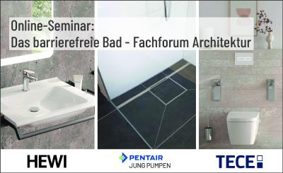 Online-Seminar: Das barrierefreie Bad - Fachforum Architektur