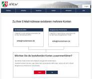 Screenshot Landesweites Servicekonto an Bürgerservice Portal angebunden
