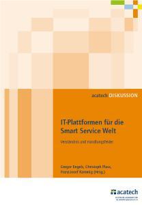 """Cover acatech DISKUSSION """"IT-Plattformen für die Smart Service Welt"""""""