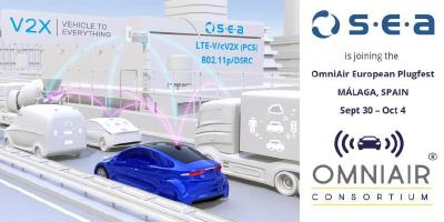 S.E.A. provides V2X Test System for c-V2X to the European OmniAir® Plug Fest in Malaga