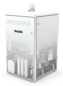 Intelligente Stromerzeugung: Dank innovativer Brennstoffzellen-Technologie produziert der Bluegen Strom aus Erd- und Biogas. Aus der gleichen Menge Gas kann so deutlich mehr Energie produziert werden als bei herkömmlichen Erzeugungstechnologien / Bild: Solidpower
