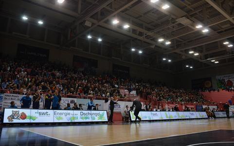 eyevis Videobande beim Spiel Walter Tigers Tübingen gg. ALBA Berlin