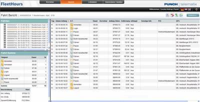 Screenshot FleetHours - automatische Spesenabrechnung - Fahrt Bericht