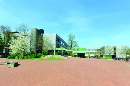 Im Rahmen umfassender Fassaden- und Fenstersanierungen wurde ebenfalls der Innenhof der Anne-Frank-Gesamtschule in Gütersloh umgestaltet.