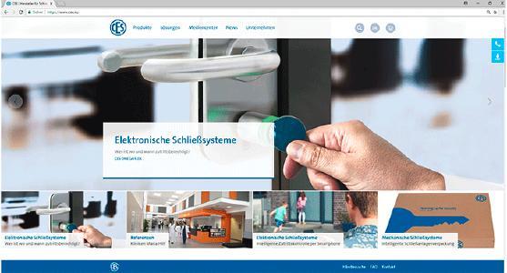 Screenshot der neuen Homepage von CES, www.ces.eu